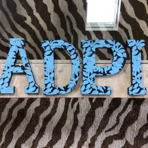 ADPI Sorority Wooden Letters